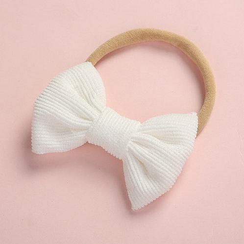 White Stretchy Bow