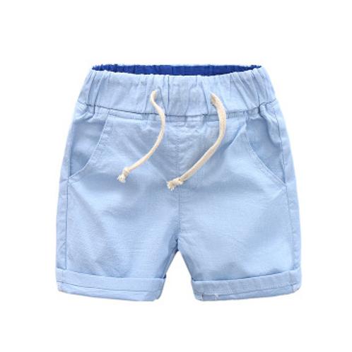 Boys Cotton& Linen Shorts (Blue)