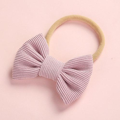 Dusty Purple Stretchy Bow