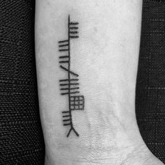 Ogham Tattoo