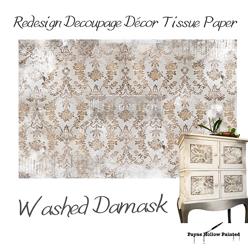 Washed Damask - Redesign Decoupage Tissue Paper