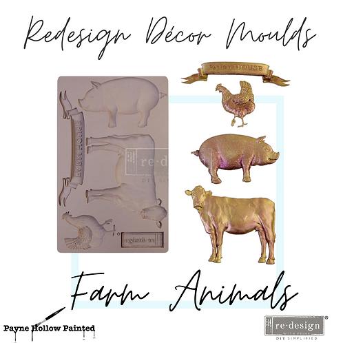 FARM ANIMALS  -  Redesign Decor Moulds®