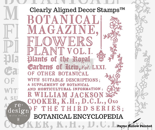 BOTANICAL ENCYCLOPEDIA  -  Clearly Aligned Décor Stamps