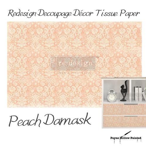 Peach Damask - Redesign Decoupage Tissue Paper
