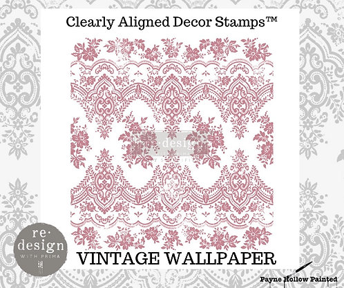 VINTAGE WALLPAPER  -  Clearly Aligned Décor Stamps