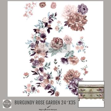 BURGUNDY ROSE GARDEN - Redesign Décor Transfers®