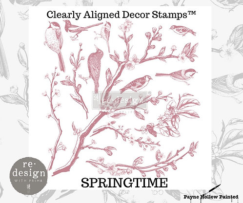 SPRINGTIME - Clearly Aligned Décor Stamps