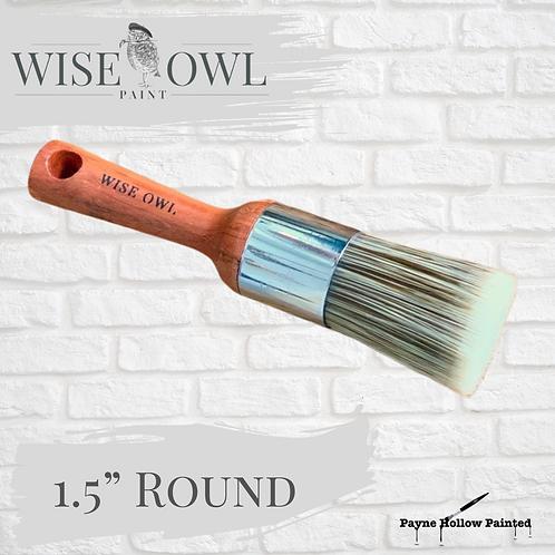 "1.5"" ROUND BRUSH  Wise Owl Premium Brushes"