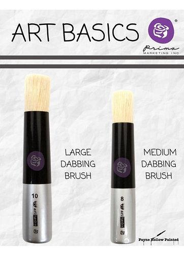 Art Basics DABBING BRUSHES, Medium and Large, Premium Paintbr