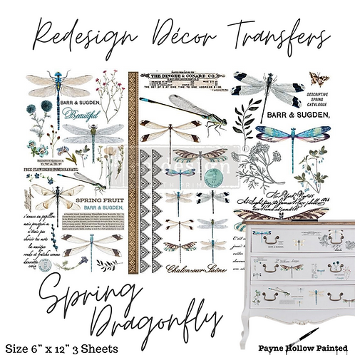 SPRING DRAGONFLY  - Redesign Decor Transfer