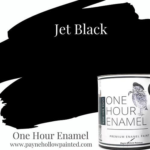 JET BLACK One Hour Enamel