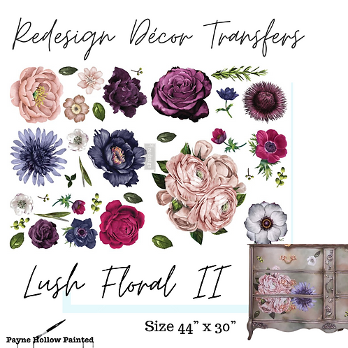 LUSH FLORAL II - Redesign Décor Transfers®