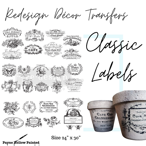 CLASSIC VINTAGE LABELS  - Redesign Decor Transfers®