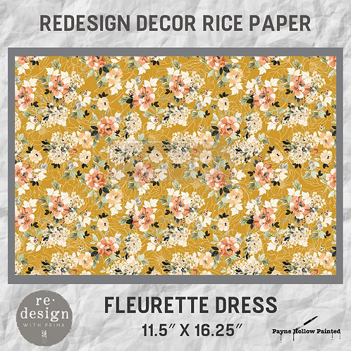 FLEURETTE DRESS  - Redesign Décor Rice Paper
