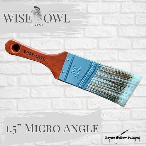 """1.5"""" MICRO ANGLE BRUSH  Wise Owl Premium Brushes"""