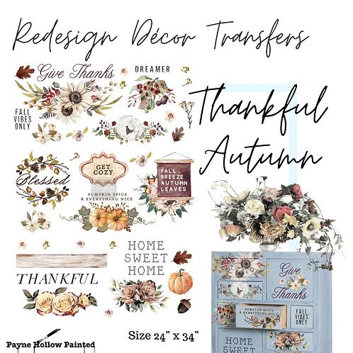 THANKFUL AUTUMN -  Redesign Decor Transfers®