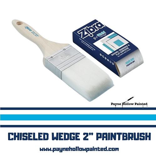"""ZIBRA Chiseled Wedge 2"""" PAINTBRUSH"""
