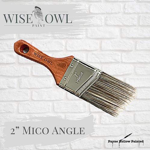 """2"""" MICRO ANGLE BRUSH  Wise Owl Premium Brushes"""