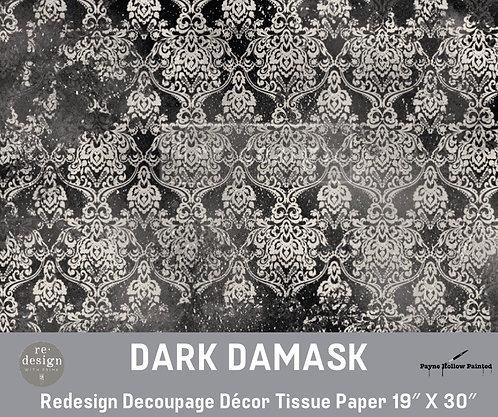 DARK DAMASK - Redesign Decoupage Tissue Paper