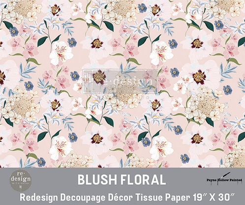 BLUSH FORAL - Redesign Decoupage Tissue Pape