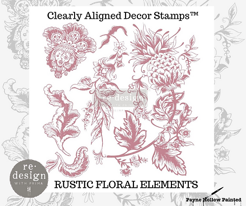 RUSTIC FLORAL -  Clearly Aligned Décor Stamps