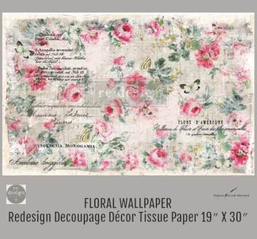 FLORAL WALLPAPER - Redesign Decoupage Paper