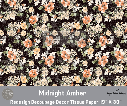 MIDNIGHT AMBER -  Redesign Decoupage Tissue Paper