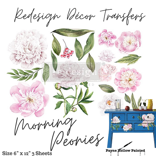 MORNING PEONIES - Redesign Decor Transfer