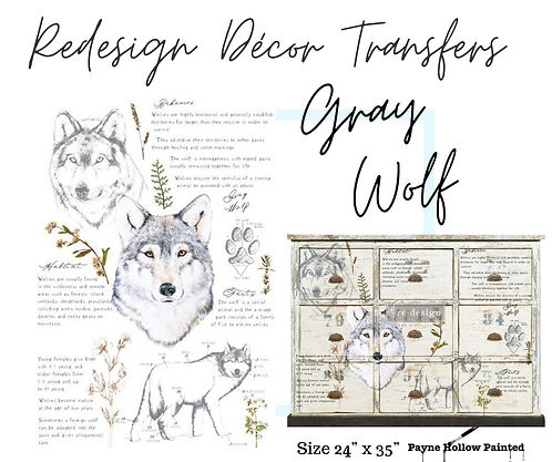 GRAY WOLF  -  Redesign Decor Transfers