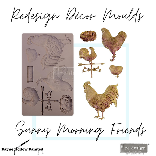 SUNNY MORNING FRIENDS  -  Redesign Decor Moulds®