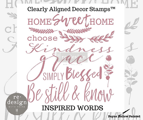 INSPIRED WORDS  -  Clearly Aligned Décor Stamps