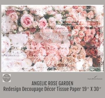 ANGELIC ROSE GARDEN - Redesign Decoupage Paper