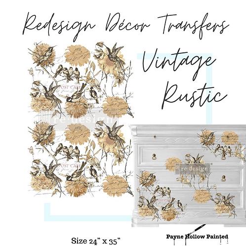 VINTAGE RUSTIC  -  Redesign Decor Transfers