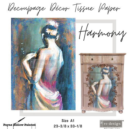 HARMONY- Redesign A1 Decoupage Tissue Paper