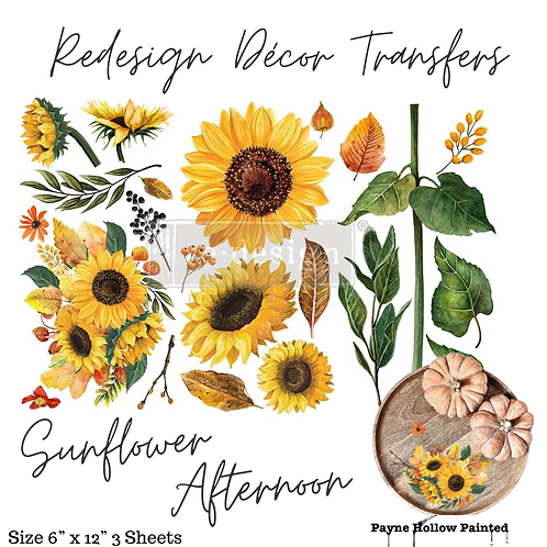 SUNFLOWER AFTERNOON  - Redesign Decor Transfer
