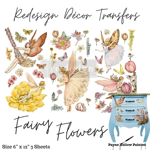 FAIRY FLOWERS - Redesign Decor Transfer