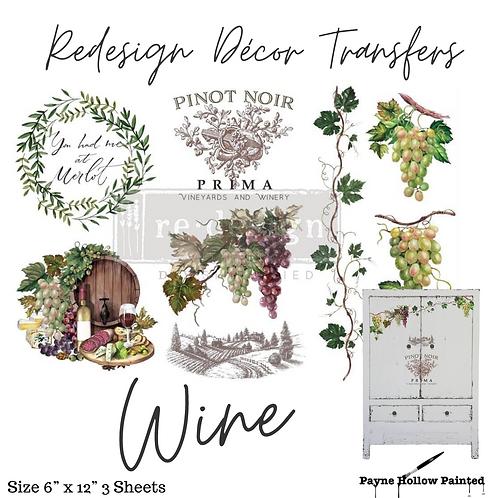 WINE  - Redesign Decor Transfer