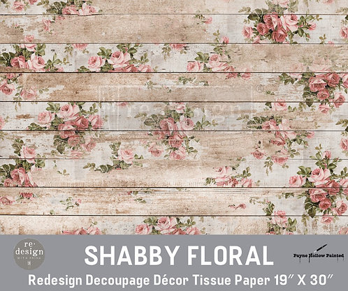 SHABBY FLORAL -  Redesign Decoupage Tissue Paper