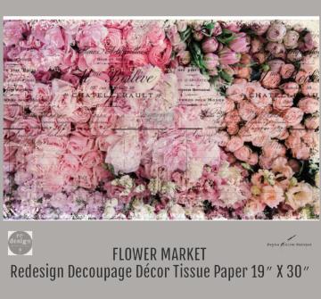 FLOWER MARKET - Redesign Decoupage Paper