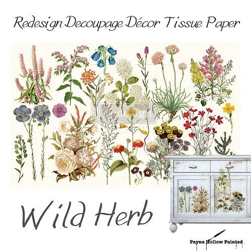 WILD HERBS -  Redesign Decoupage Tissue Paper