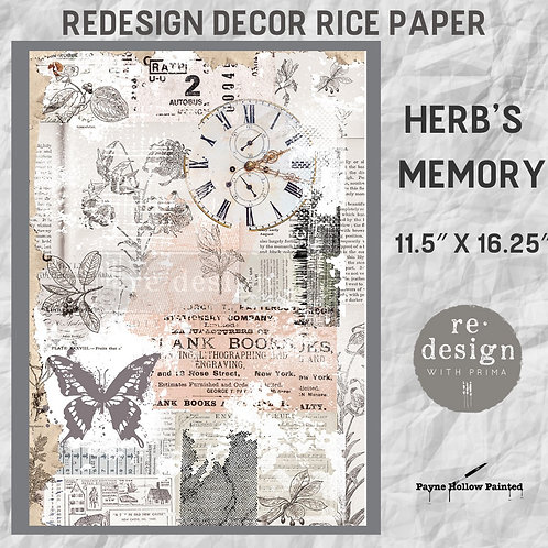 HERB'S MEMORY -  Redesign Décor Rice Paper
