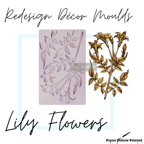 LILY FLOWERS - Redesign Decor Moulds®