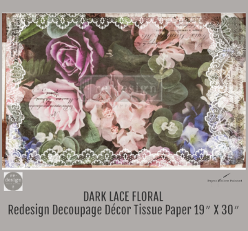 DARK LACE FLORAL - Redesign Decoupage Paper