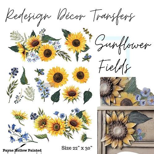 SUNFLOWER FIELDS  - Redesign Décor Transfers®