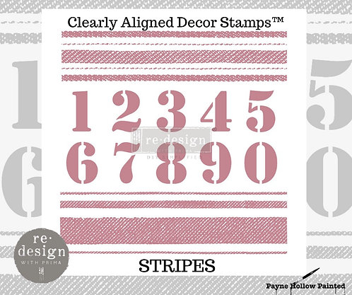 STRIPS  -  Clearly Aligned Décor Stamps