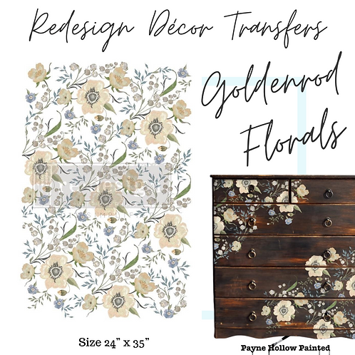 GOLDENROD FLORALS  - Redesign Décor Transfers®