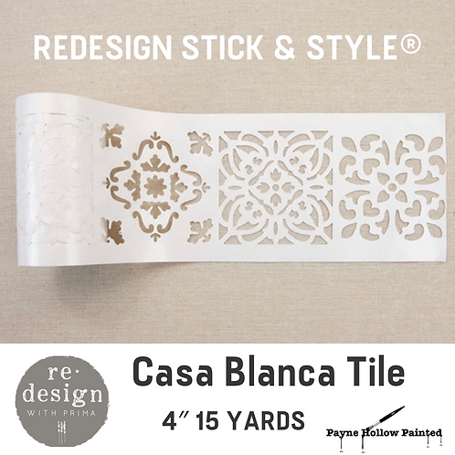 CASA BLANCA Tile - Redesign Stick & Style® 4″ 15 YARDS