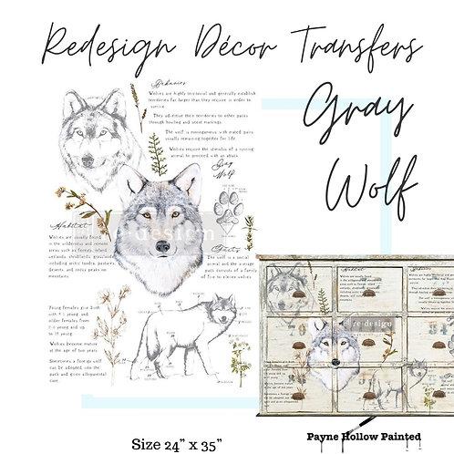 GRAY WOLF  -  Redesign Decor Transfers