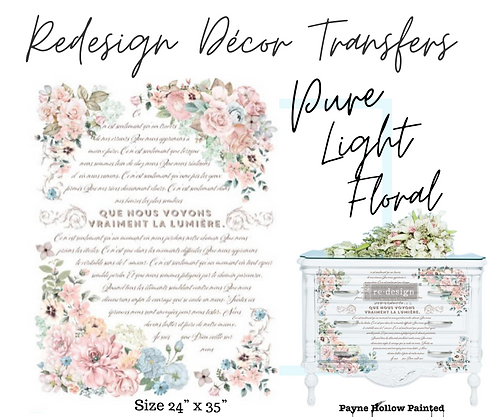 Pure Light Floral -  Redesign Decor Transfers