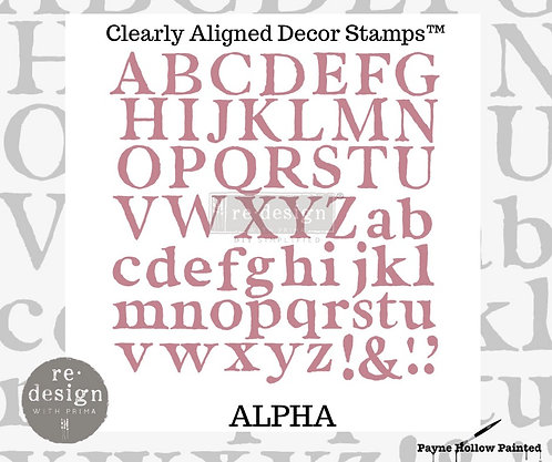 ALPHA  -  Clearly Aligned Décor Stam